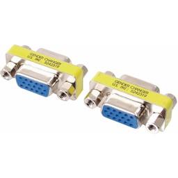 Valueline Metalen mini VGA adapter HD15p vrouwelijk - HD15p vrouwelijk