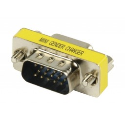 Valueline Metalen mini VGA adapter HD15p mannelijk - HD15p vrouwelijk