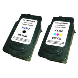 Huismerk Set cartridges voor Canon PG512 & Cl513 met niveau-indicator