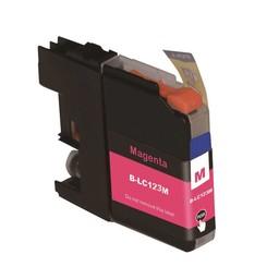 Huismerk Inkt cartridge voor Brother LC 121 LC 123 magenta (met chip)