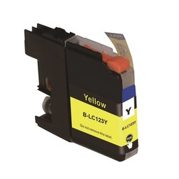 Huismerk Inkt cartridge voor Brother LC 121 LC 123 geel (met chip)