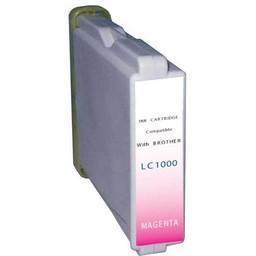 Huismerk Inkt cartridge voor Brother LC 1000 magenta