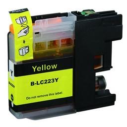 Huismerk Inkt cartridge voor Brother LC 223 geel (met chip)
