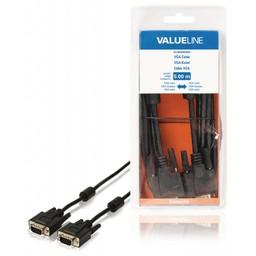 Valueline VGA-kabel VGA mannelijk - VGA mannelijk 5,00 m zwart
