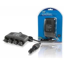 Nedis Universele DC-voedingsadapter | 5/12 V DC | Autolader/USB | 4-weg