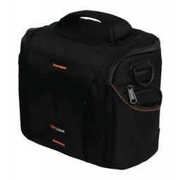 Nedis Camera-schoudertas | 220 x 190 x 120 mm | 3 binnenvakken | Zwart/oranje