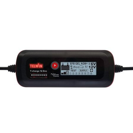 Telwin Druppellader/tester T-Charge 12 EVO 6/12V - Pulse Tronic - met functies Recovery, Supply, Cold