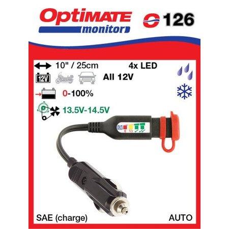Tecmate Optimate accu monitor O126 - Sigarettenaansteker - SAE