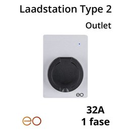 EO Laadstation type 2 Outlet 32A - Wit