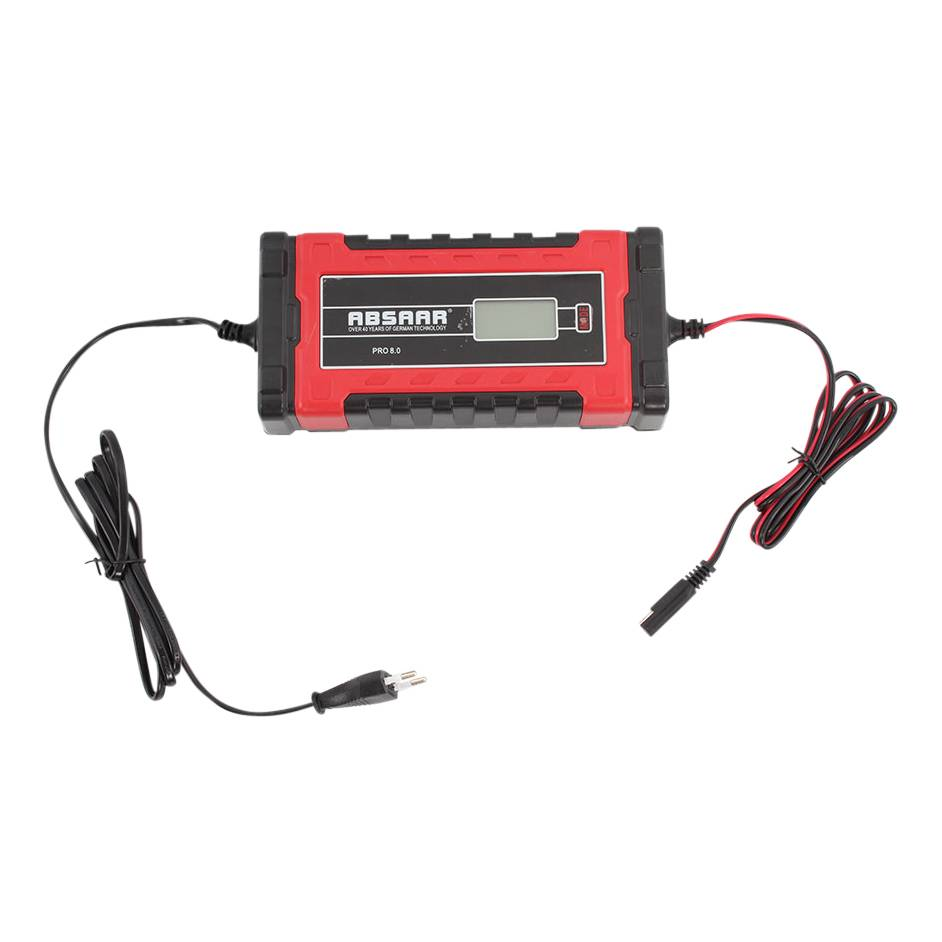 ABSAAR PRO 8.0 Vollautomatisches Batterieladegerät 8 Amp  12 24 V Ladegerät