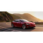 Laadstation Tesla Model S met ge-upgrade lader