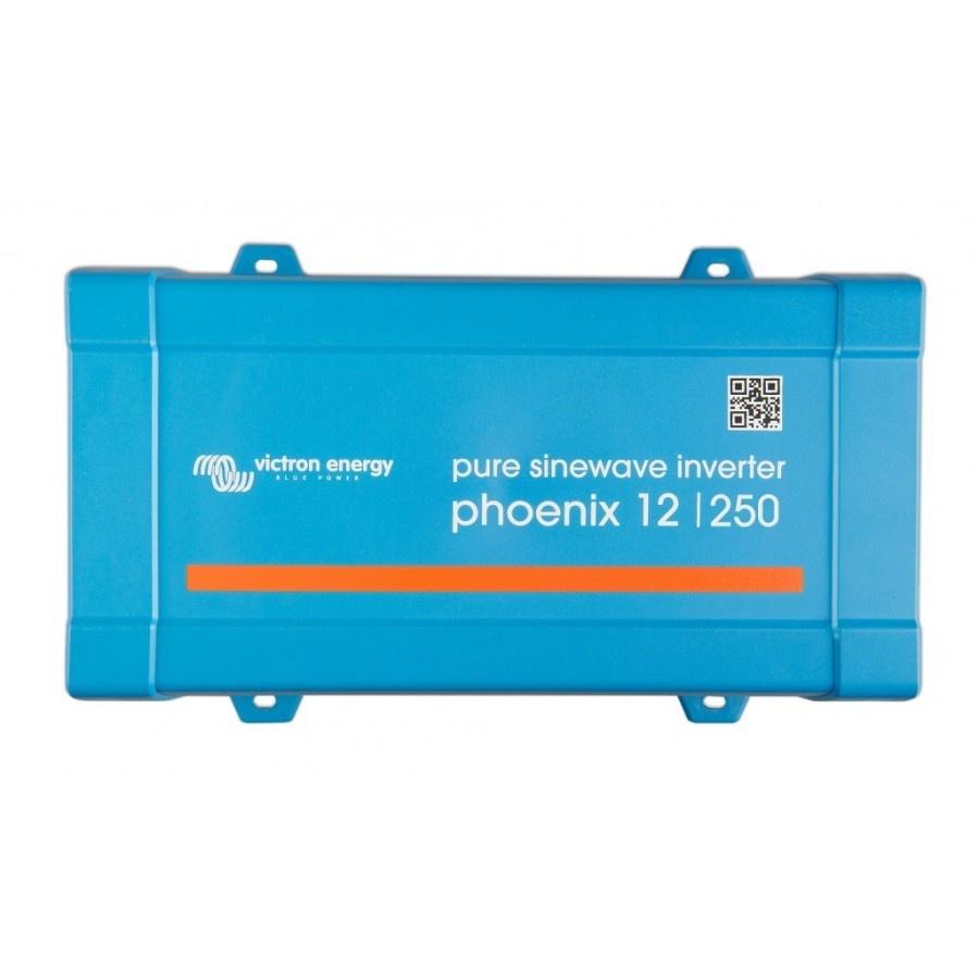 Victron Energy Phoenix 12-250 Netomvormer 250 W 12 V-DC Schroefklemmen Randaarde contactdoos, Kabel