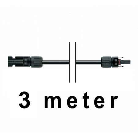 TopSolar kabel 6mm² 3m MC4 male/female
