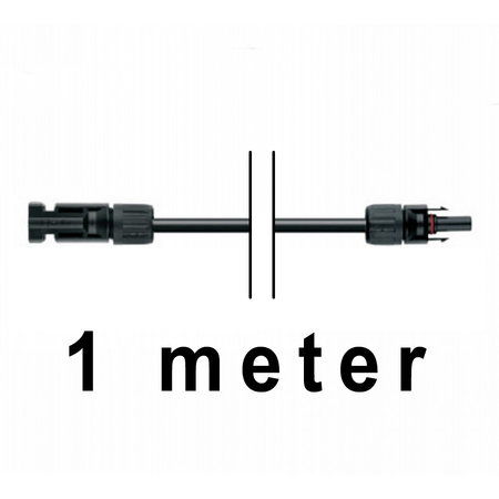 TopSolar kabel 4mm² 1m MC4 male/female