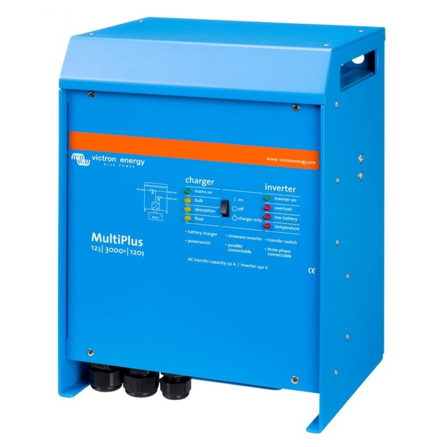 Victron Energy MultiPlus C 12-3000-120-16 Netomvormer 3000 W 12 V-DC Kabel
