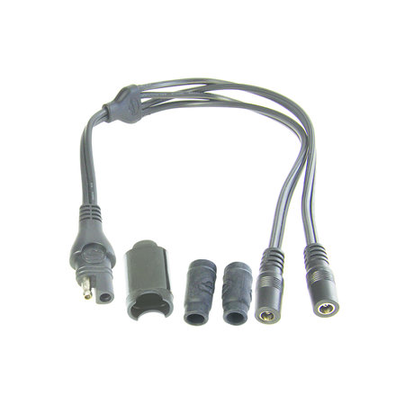 Tecmate Optimate Y-splitter kabel SAE naar 2 DC-contacten
