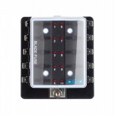Zekering distributie 10 met led signalering