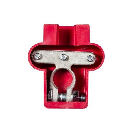 Accuklem isolatiekap rood (+) voor dubbele kabel
