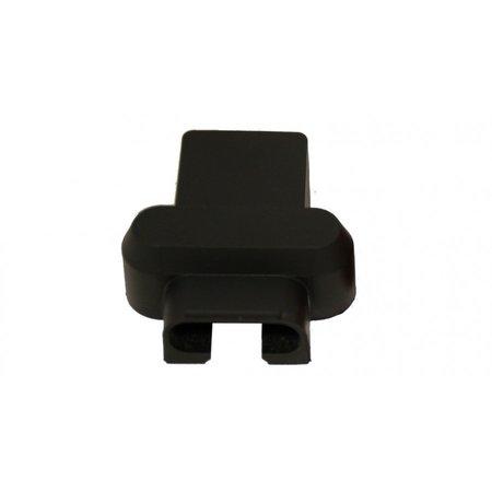 Accuklem isolatiekap zwart (-) voor dubbele kabel