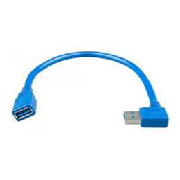 Victron USB extension kabel 0,3m stekker 1 zijde 90 graden