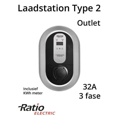 Ratio EV Home Box Plus Outlet 3 fase 32A + KWh meter
