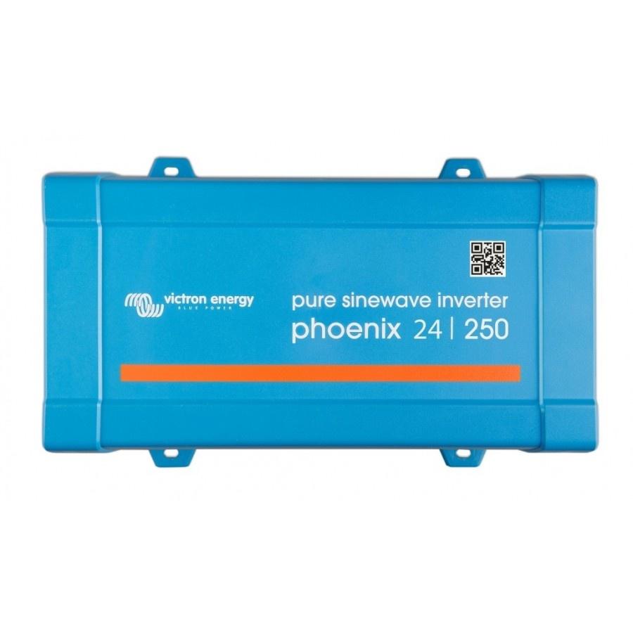 Victron Energy Phoenix 24-250 Netomvormer 250 W 24 V-DC Schroefklemmen Randaarde contactdoos, Kabel