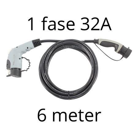Ratio Laadkabel type 1 - 1 fase 32A - 6 meter