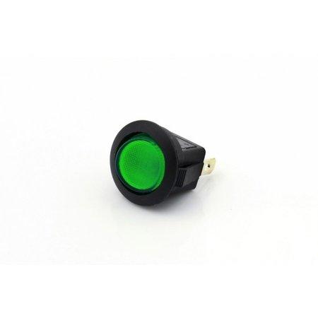 Mini Tuimelschakelaar met groene LED