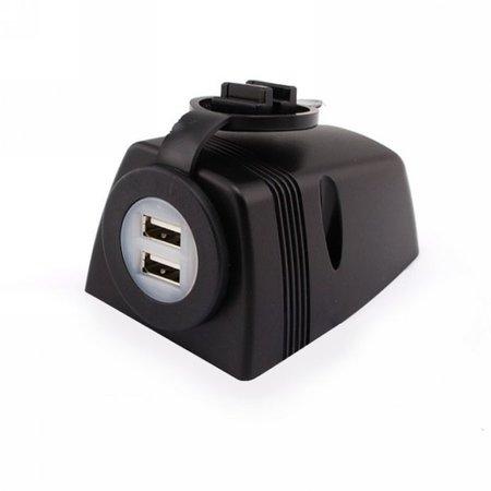 Opbouw USB-lader met cover/ afdichting