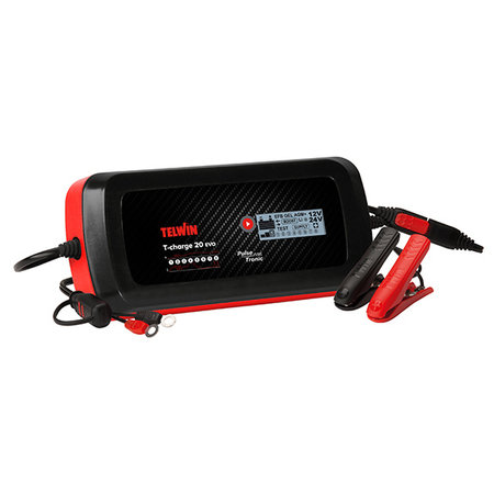 Telwin Druppellader/tester T-Charge 20 EVO 12V/24V - Pulse Tronic - met functies Recovery, Supply, Cold en Test
