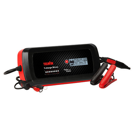 Telwin Druppellader/tester T-Charge 26 EVO 12V/24V - Pulse Tronic - met functies Recovery, Supply, Cold en Test