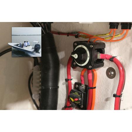 Blue Sea Systems Accuschakelaar 300A 1-beide-2 - M 6007200 - Zwart
