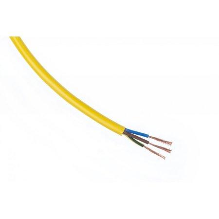 Ronde PVC 230VAC Kabel H05VV-F 3x1,5mm Geel