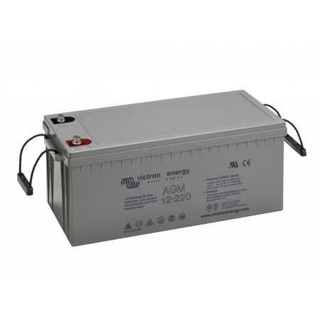 Victron AGM 12V/220Ah Deep Cycle Accu/ Batterij - M8 insert