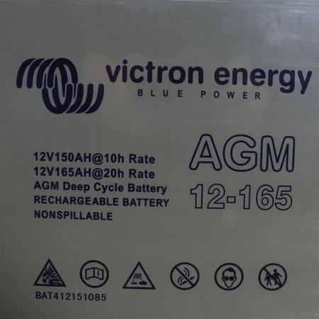 Victron AGM 12V/165Ah Deep Cycle Accu/ Batterij - M8 insert