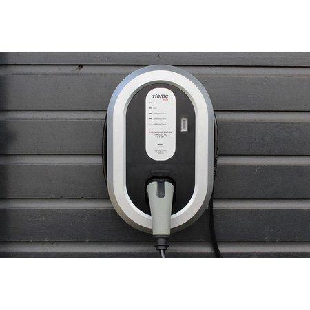 Ratio EV Home Box Plus Laadstation type 2, 1 fase 16A met 5 meter vaste rechte laadkabel + KWh meter