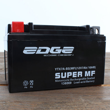 Edge Super MF Accu YTX7A-BS (MF) 12V 7Ah - Gel (15,1 x 8,7 x 9,4 cm)