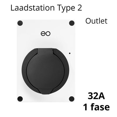 EO Mini Pro Laadstation type 2 Outlet 32A Wit