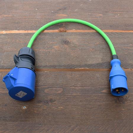 Ratio Verloopstekker/ adapter 1 fase CEE naar 1 fase CEE 32A