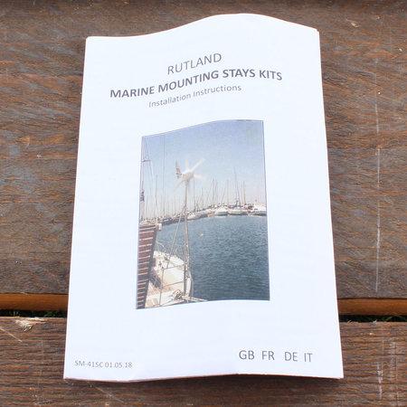 Rutland Marine Stays Kit/ Schoren voor montagepaal windturbine - 1,35 meter
