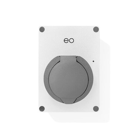 EO Mini Laadstation type 2 Outlet 32A - Zilver