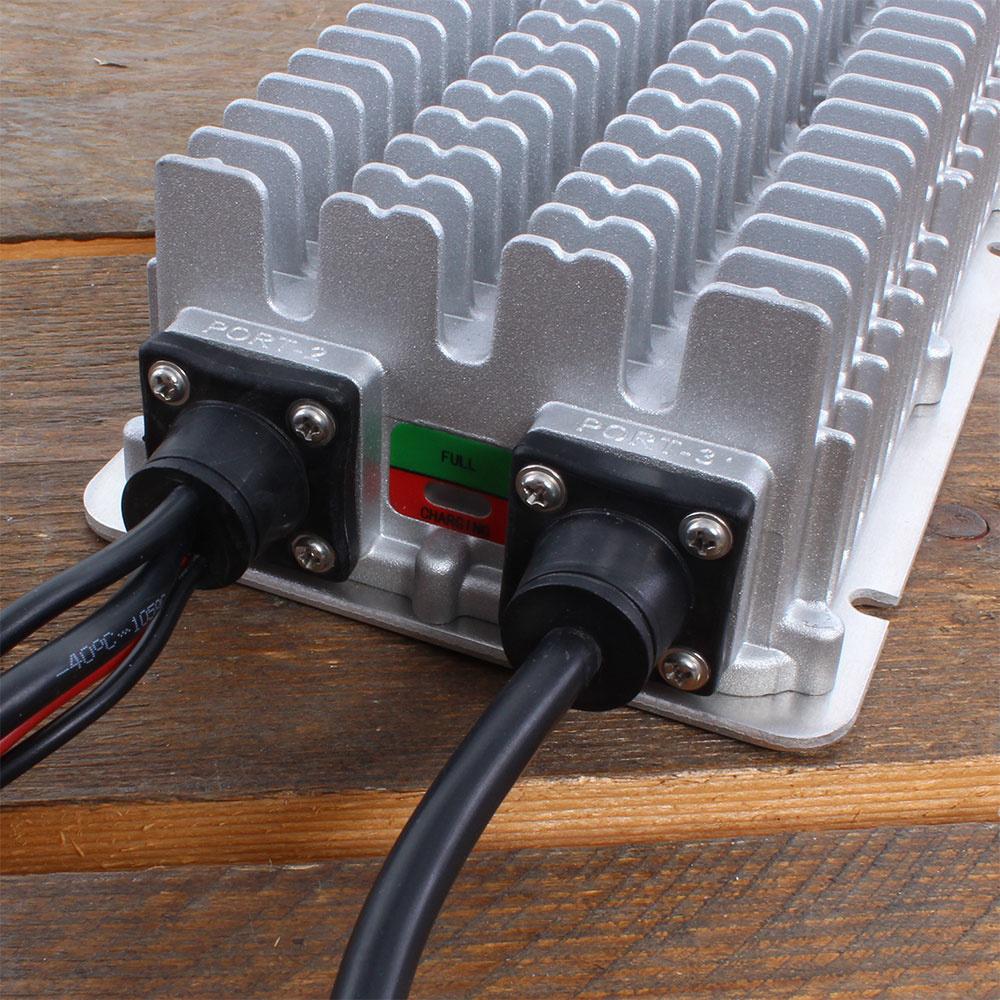 Batterijlader voor een palletwagen