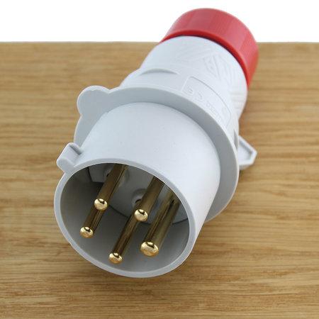 ILME CEE Stekker 5-polig 32A - Mannelijk 3P+A+N 380V Rood