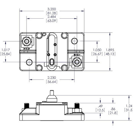Blue Sea Systems 285-Serie Automatische Zekering/ Circuit Breaker - 50A