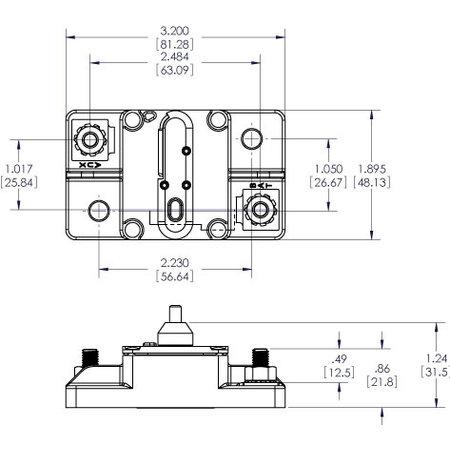 Blue Sea Systems 285-Serie Automatische Zekering/ Circuit Breaker - 40A