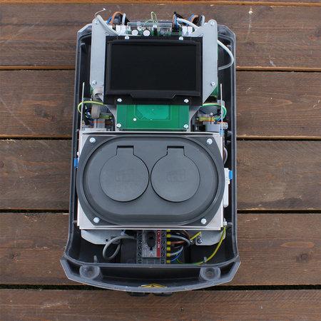 Alfen  Eve Double Pro-line - 3 x 32A (22kW) - 2 Sockets - RFID - E-Flux - 1 Voedingskabel