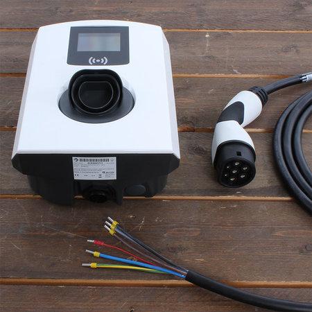 Alfen  Eve Single Pro-line - 3 x 32A (22kW) - 8 meter vaste kabel - RFID - E-Flux - Load Balancing