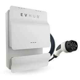 EVHUB Laadstation type 2, 16A, 1 of 3 fase, rechte laadkabel