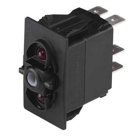 CZone Aangepaste Rocker schakelaar AAN/UIT/AAN, rode LED