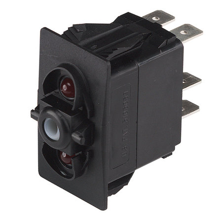 CZone Aangepaste Rocker schakelaar mom (AAN)/UIT/(AAN), rode LED